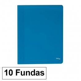 Carpeta Flexible con 10 fundas Plus Office A4 azul