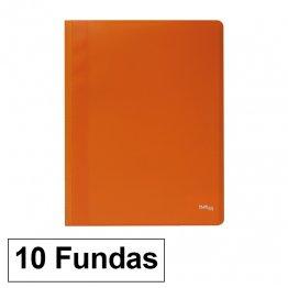Carpeta Flexible con 10 fundas Plus Office A4 naranja