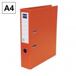 Archivador Plus Office E3R A4 lomo 75mm Naranja