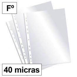 Funda multitaladro Plus Office Folio-cristal 40micras c/200
