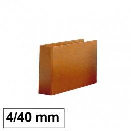 Carpeta cartón forrado Luxe 4º apaisado 2/40mm