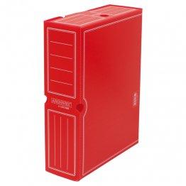 Archivo definitivo plástico Fº prolongado rojo