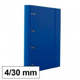 Carpeta 4 anillas 25mm A4 con recambio 100h y 5 sep azul