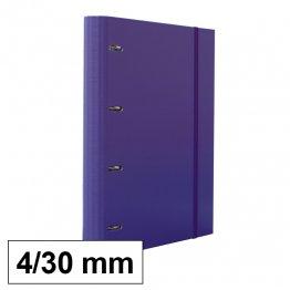 Carpeta 4 anillas 25mm A4 con recambio 100h y 5 sep violeta