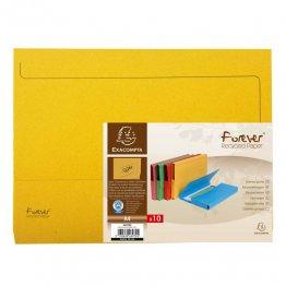 Subcarpetas Exacompta Forever Recycled con bolsa cartulina reciclada A4 290gr Amarillo
