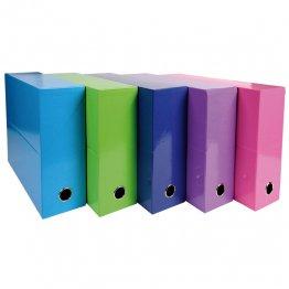 Caja transferencia Exacompta Lomo 90mm 5 colores surtido A