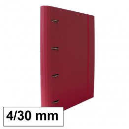 Carpeta 4 anillas 25mm A4 con recambio 100h y 5 sep rosa osc