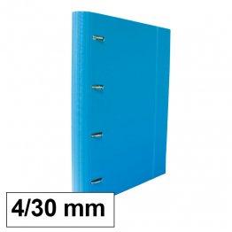 Carpeta 4 anillas 25mm A4 con recambio 100h y 5 sep azul claro
