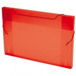 Carpeta Proyecto PP lomo ecm traslúcido rojo