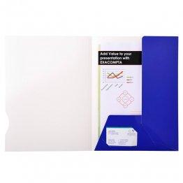 Subcarpeta Exacompta Chromolux 250gr 2 solapas azul oscuro