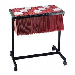 Carro extensible Gio para carpetas colgantes 650x60x670mm Negro
