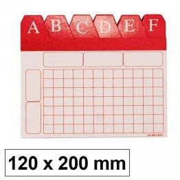 Índice alfabético para ficheros 120x200mm