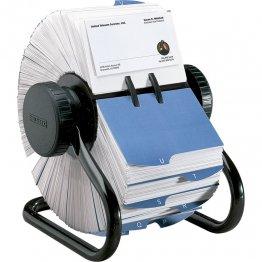Tarjetero rotativo Rolodex 200 tarjetas y 24 separadores