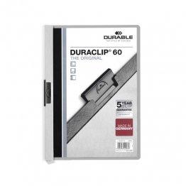 Dossier Durable con pinza Duraclip 60 hojas Gris