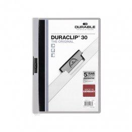 Dossier Durable con pinza Duraclip 30 hojas Gris