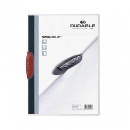Dossier Durable Swinclip 30 hojas rojo