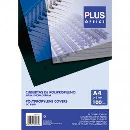 Cubiertas para encuadernar Plus Office de polipropileno A4 Opaco 50 micras (100u./caja)