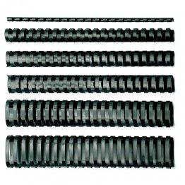Canutillos de plástico GBC redondo 8mm 45h (100u./caja)