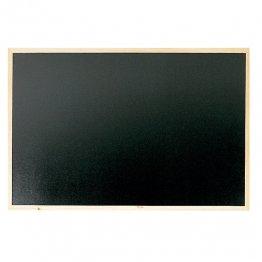 Pizarra negra Makro Paper con marco de madera 90x60
