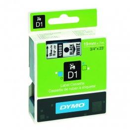 CINTA DYMO D1 19MMX7M NEGRO/BLANCO