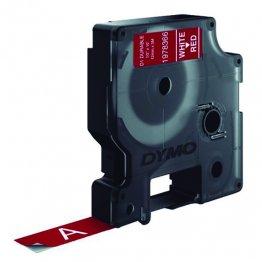 Cinta Dymo D1 Durable 12mm x 3m blanco/rojo
