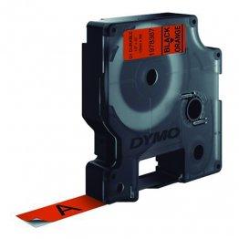 Cinta Dymo D1 Durable 12mm x 3m negro/naranja