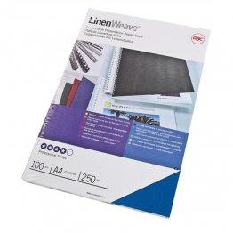 Cubiertas A4 de encuadernación Linenweave GBC. Color: Blanco. 100 ud./caja