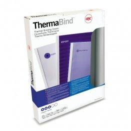 Carpetas térmicas estándar GBC. Lomo: 8 mm. Capacidad: 60 hojas. Envase: 100 ud.