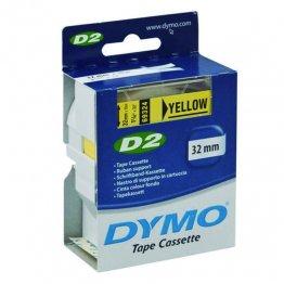 Cintas Dymo electrónica D2 32mmx10m. Amarillo