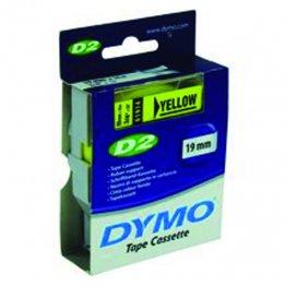 Cintas Dymo electrónica D2 19mmx10m. Amarillo