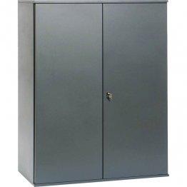 Armario Pierre Henry puertas batientes gris 1 estante