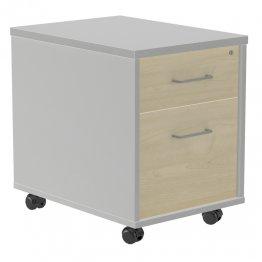 Buck móvil Rocada (1 cajón + 1 carpetero) gris/blanco