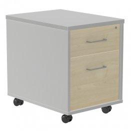 Buck móvil Rocada (1 cajón + 1 carpetero) aluminio/gris