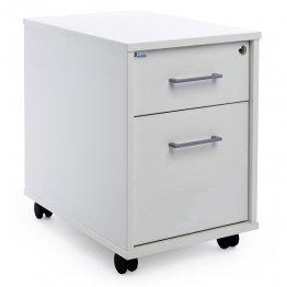 Buck móvil Rocada (1 cajón + 1 carpetero) balnco/blanco