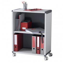 Archivador Paperflow con ruedas. Color: gris/negro. Medidas: 651x864x330mm