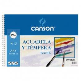 Papel acuarela Canson Álbum espiral de 10h. 23x32,5 (A4+)