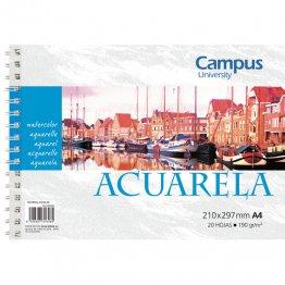 Bloc de acuarela Campus University A4 20h 190gr