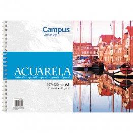 Bloc de acuarela Campus University A3 20h 190 gr