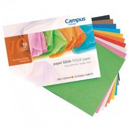Bloc papel seda Campus College trabajos manuales 8 colores