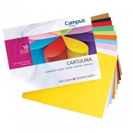 Bloc cartulina Campus College trabajos manuales 10 colores