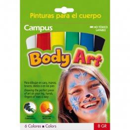 Pintura cara Campus Body Art (Set 6 uds.)