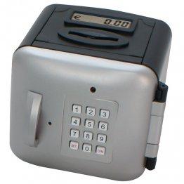 Caja seguridad pequeña. Negro/plata