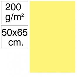 Cartulina Campus 50x65 cm 200 gr amarillo limón 25h
