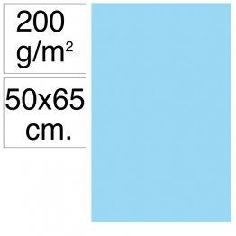 Cartulina Campus 50x65 cm 200 gr azul celeste 25h