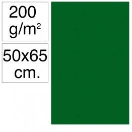 Cartulina Campus 50x65 200 gr Verde Selva 25h