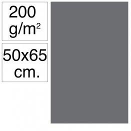 Cartulina Campus 50x65 200 gr gris oscuro 25h