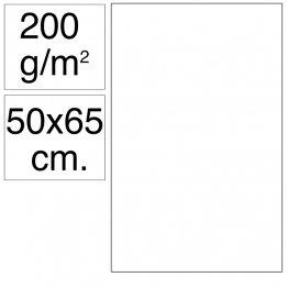 Cartulina Campus 50x65 cm 200 gr blanca 25h