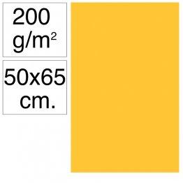 Cartulina Campus 50x65 cm 200 gr amarillo gualda 25h