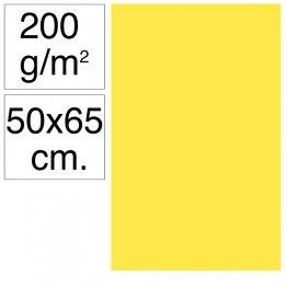 Cartulina Campus 50x65 cm 200 gr amarillo canario 25h