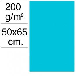 Cartulina Campus 50x65 cm 200 gr azul turquesa 25h